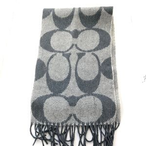COACH CASHMERE WOOL GRAY SCARF
